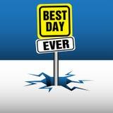 La mejor placa del día nunca Imagen de archivo libre de regalías