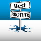 La mejor placa del hermano Foto de archivo libre de regalías
