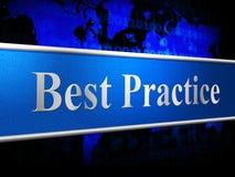 La mejor práctica indica el número uno y al jefe Fotos de archivo libres de regalías