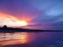 La mejor puesta del sol Imagen de archivo