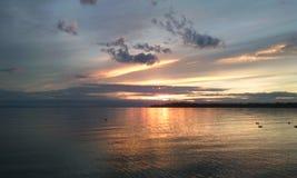 La mejor puesta del sol Fotos de archivo libres de regalías