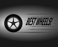 La mejor tarjeta de publicidad de las ruedas Imagenes de archivo