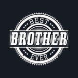 La mejor tipografía de la camiseta de Brother Ever, ejemplo del vector stock de ilustración