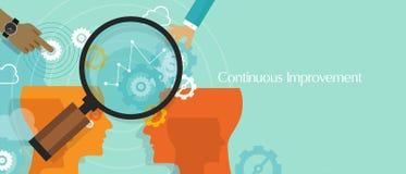 La mejora continua kaizen concepto del negocio mejora ilustración del vector