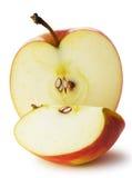 La mela del taglio fotografie stock