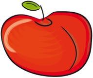 La mela rossa. Fotografie Stock