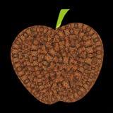 La mela unica di vettore con la tartaruga riporta in scala i modelli royalty illustrazione gratis