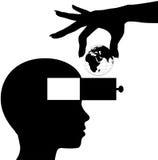 La mente del estudiante aprende la educación del conocimiento del mundo ilustración del vector