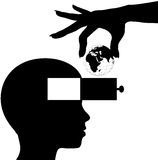 La mente dell'allievo impara la formazione di conoscenza del mondo Fotografia Stock Libera da Diritti