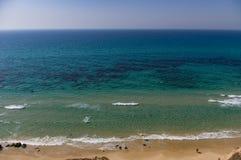 La mer à l'horizon, vagues, plage Fond images libres de droits