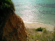 La Mer Adriatique brillant sous le soleil lumineux, Albanie photos libres de droits