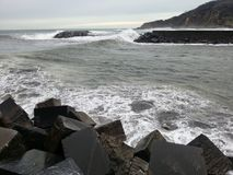 La mer avant la tempête image stock