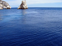 La mer bleue. The mediterranean sea on a mistral day, near marseille stock photos