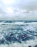 La mer de février Photo libre de droits