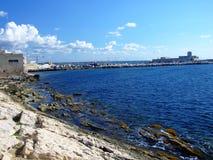 La mer de Trapani Image libre de droits
