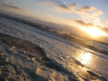 La Mer du Nord en hiver photo stock