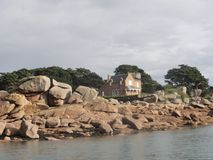 La mer en Bretagne, Golfe du Morbihan Région bretonne, dans les Frances Image libre de droits