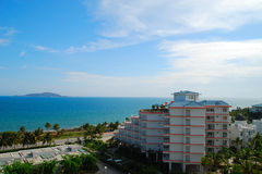 La mer et le ciel de Sanya 4 (Hainan, la Chine) Photographie stock libre de droits