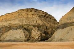 La mer et le vent érodent les falaises à la baleine Chine In l'île du Wight Photo stock