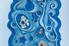 La mer et les poissons sur le mur Photographie stock libre de droits