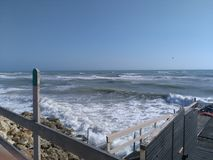 La mer fâchée Photos libres de droits
