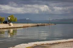 La mer grecque après tempête Photographie stock