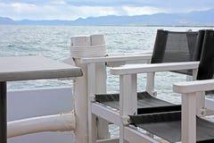 La mer grecque après tempête Images libres de droits