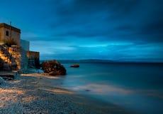 La mer la nuit Photographie stock libre de droits