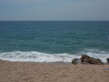 La mer Méditerranée, Barcelone, Espagne Images libres de droits