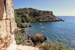 La mer Méditerranée de la côte minorquine Photos libres de droits