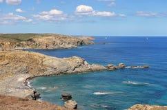 La mer Méditerranée de la côte minorquine Image libre de droits