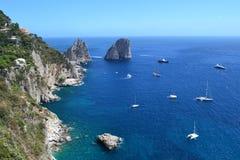 La mer Méditerranée, mer du ` s de Capri images libres de droits