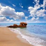 La mer Méditerranée Espagne de plage d'Almeria Mojacar Photos stock