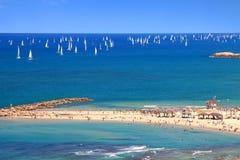 La mer Méditerranée magnifique Image stock