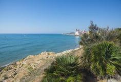 La mer Méditerranée, Sitges Photo libre de droits