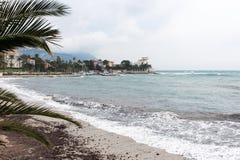 La mer Méditerranée, Villefranche-sur-Mer photos libres de droits