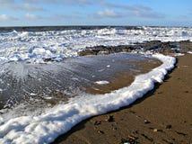 La mer mousseuse Photos stock