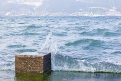 La Mer Noire avec des ondes Photographie stock