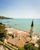 La Mer Noire dans Balchik Image libre de droits