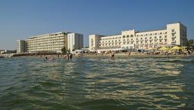 La Mer Noire et la station de vacances de Mamaia Photo stock