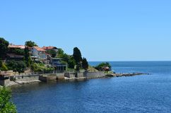 La Mer Noire, Nessebar Images stock