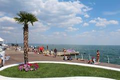 La Mer Noire, Odessa, Ukraine Photographie stock
