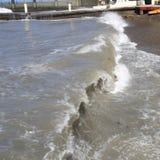 La Mer Noire Ondes de mer Sotchi Photos libres de droits