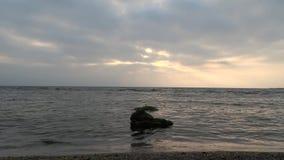 La Mer Noire ondule la Roumanie banque de vidéos