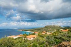 La mer regarde des vues du Curaçao image libre de droits