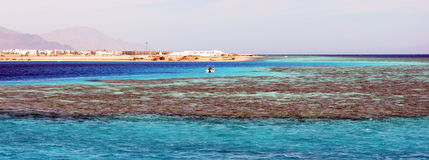 La Mer Rouge, golfe d'Aqaba, Egypte Photo stock