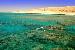 La Mer Rouge naviguant au schnorchel Photo libre de droits