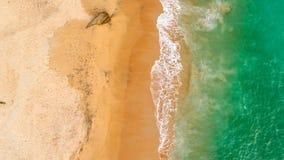 La mer verte ondule la vue d'Arial photos libres de droits