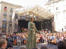 La Mercè, Gönnerheiliges von Barcelona Stockfoto