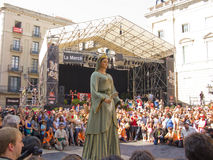 La Mercè, patron saint of Barcelona Stock Photo